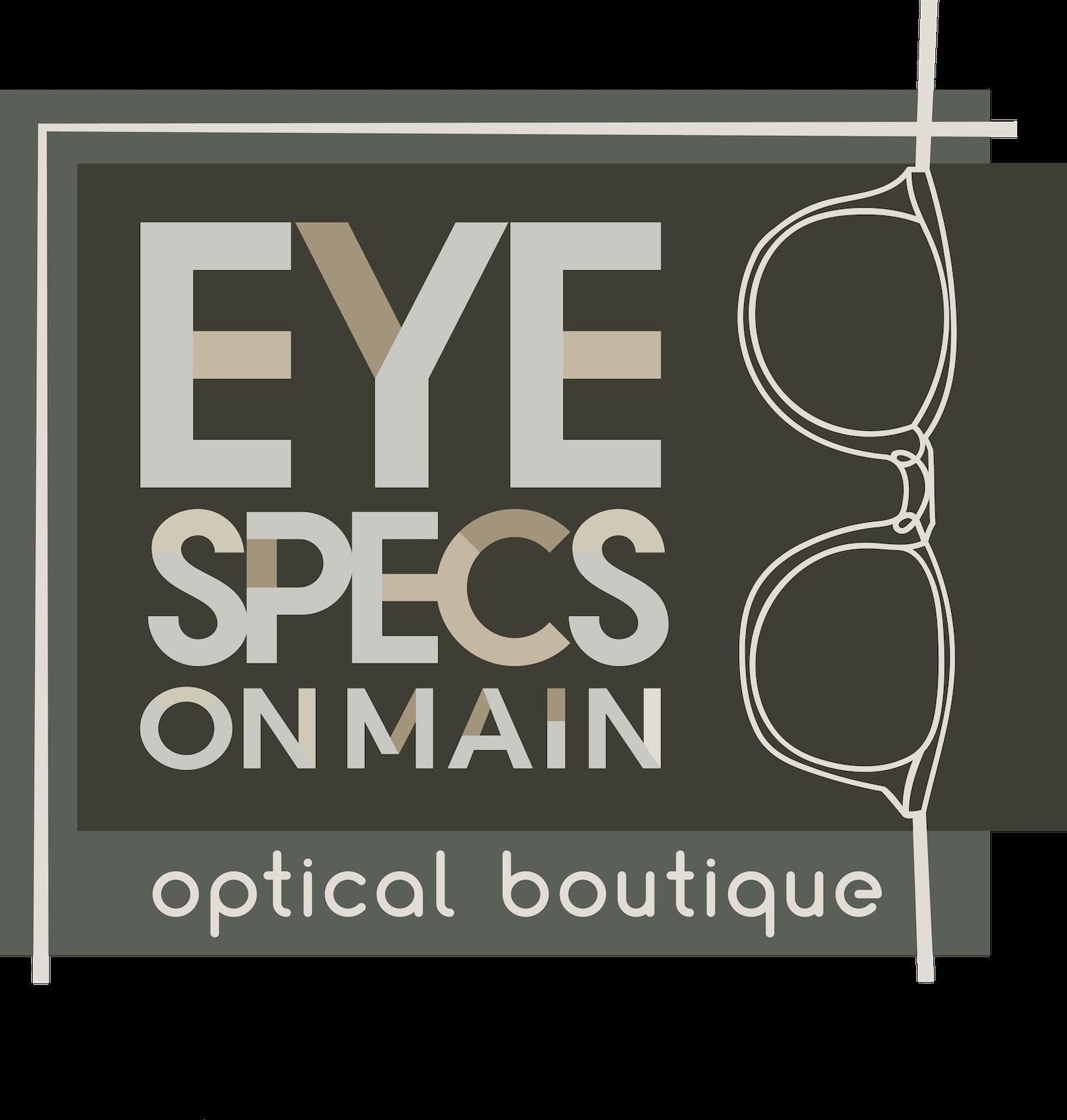 Eye Specs on Main Logo